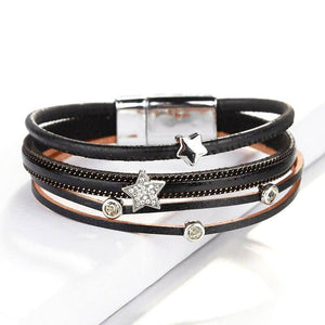 Women Multilayer Leather Bracelet Femme For Charm Female Multilayer Bracelets&Bangles Jewelry Women Decoration | akolzol