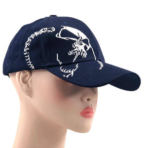 High Quality Unisex 100% Cotton Outdoor Baseball Cap Skull Embroidery Snapback Fashion Sports Hats For Men & Women Cap | akolzol