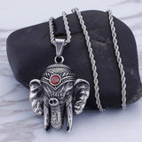 Mysterious exaggerated men's stainless steel mummy return pendant retro creative titanium steel  jewelry | akolzol
