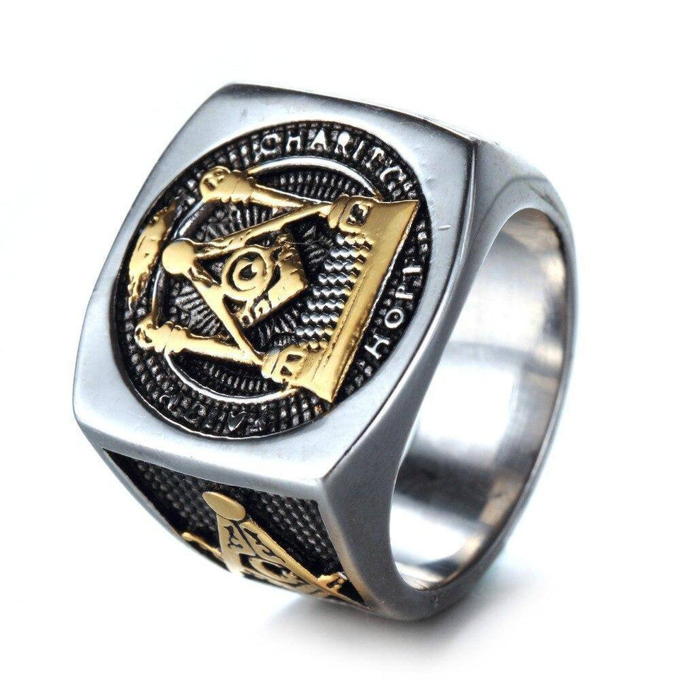 New  Stainless Steel G Rings Men's Rings Vintage Masonic Rings Titanium Steel Gifts | akolzol