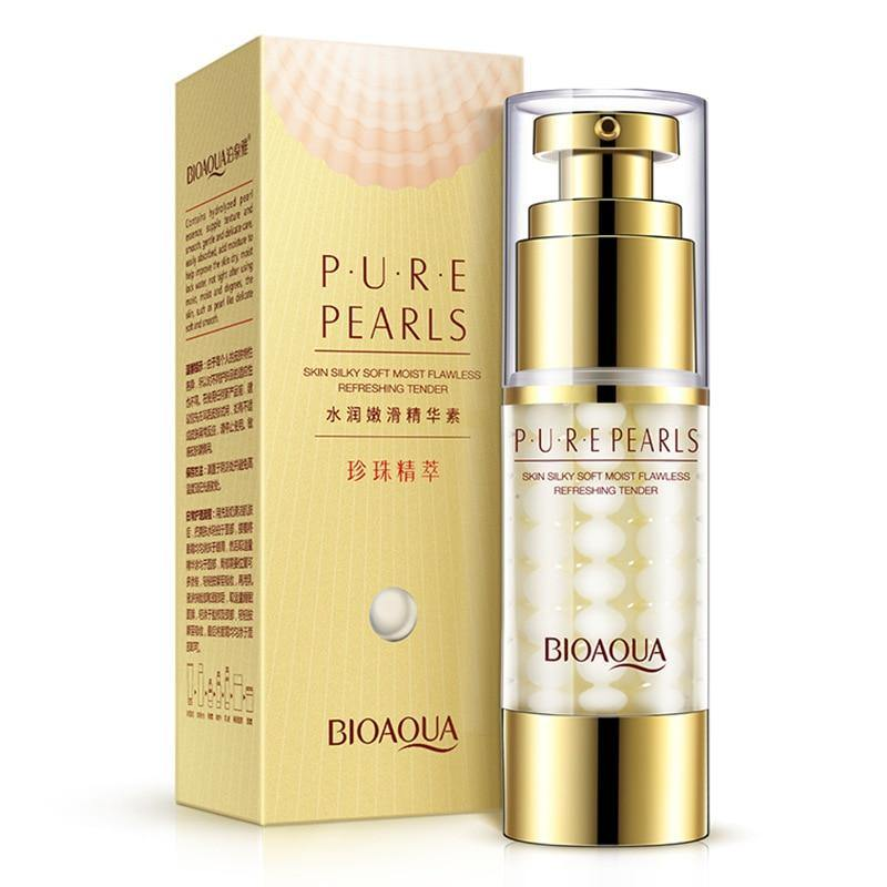 BIOAQUA Pure Pearl Collagen Hyaluronic Acid serum Face Skin Care Moisturizing Hydrating Anti Wrinkle Anti Aging Essence Cream | akolzol