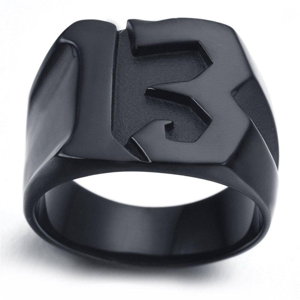 Lucky 13 Titanium Steel Ring Jewelry Men's Fashion 13 Ring | akolzol