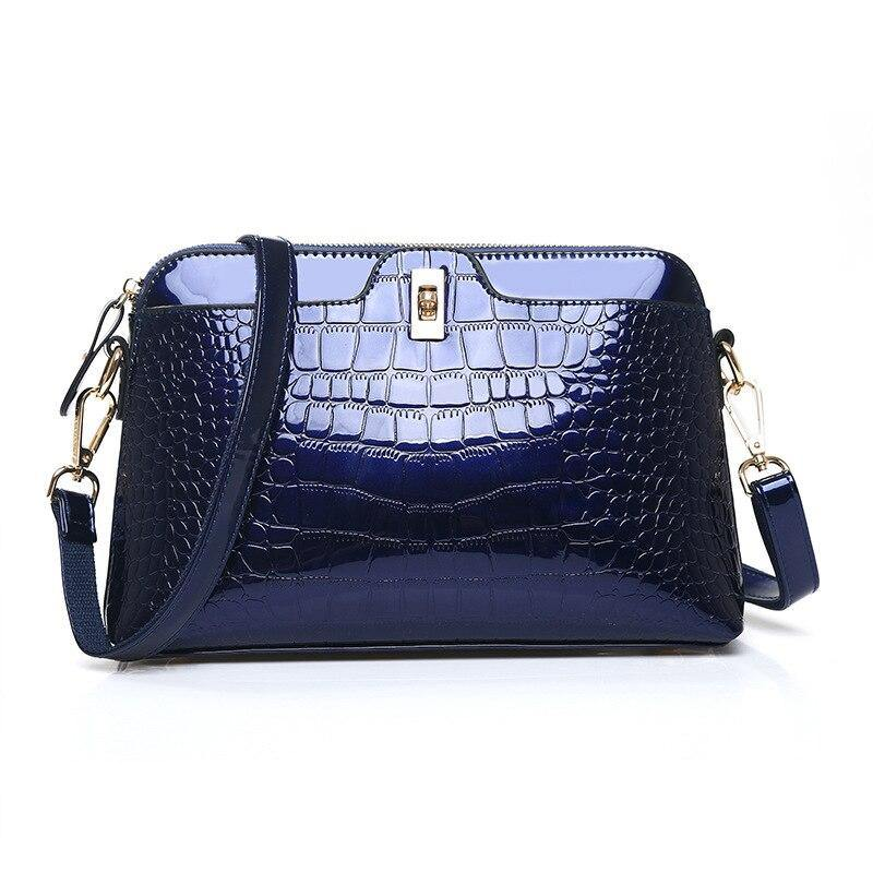 Simple Crocodile Pattern Pu Leather Shoulder Bag For Women Fashion Female Solid Color Shell Small Crossbody Handbag | akolzol