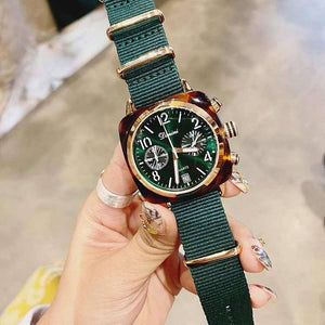 2019 Top Brand Luxury Watch Women Nylon Strap Designer Women Dress Watch Brass Case 24 Hours Calendar Women Watches Quartz | akolzol
