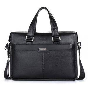 "Brand Design 15.6"" Laptop Bag Natural Cowskin Men's Business Briefcase Fashion Genuine Leather Shoulder Messenger Bags 