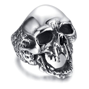 Three Colors Skull Head Titanium Steel Rings jewelry  Men's Fashion Punk Rings | akolzol
