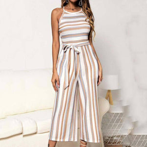 2020 Summer Wide Leg Jumpsuit Overalls For Women Elegant Loose Striped Jumpsuit Women Romper Long Jumpsuit Female With Belt | 2020, Belt, Elegant, Female, For, Jumpsuit, Leg, Long, Loose, Overalls, Romper, Striped, Summer, Wide, With, Women | akolzol
