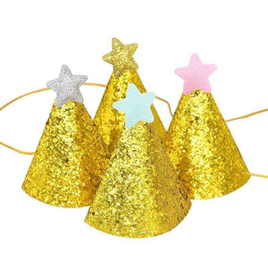 1/3/5Pcs Shiny Gold Birthday Hat With Star Gold Giltter Cap Children's Day Baby Favor Festival Party Decoration Supplies | 135, Baby, Birthday, Cap, Childrens, Day, Decoration, Favor, Festival, Giltter, Gold, Hat, Party, Pcs, Shiny, Star, Supplies, With | akolzol