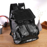 Men's Backpack Travel Casual Fashion Students School Bag Large Capacity Bag Brand USB Charge Leather Backpacks Laptop Backpack | akolzol