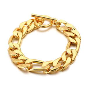 Trendy Curb Cuban Thick Link Chain Bracelet for Women Men Alloy Metal Bracelets Personality Wrist Minimalist Jewelry | Alloy, Bracelet, Bracelets, Chain, Cuban, Curb, Flashbuy, for, Jewelry, Link, Men, Metal, Minimalist, Personality, Thick, Trendy, Women, Wrist | akolzol