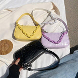 Chain Design Small Armpit Bags For Women 2020 New Fashion Simple PU Leather Crossbody Shoulder Bags Solid Color Women's Handbags | 2020, Armpit, Bags, Chain, Color, Crossbody, Design, Fashion, For, Handbags, Leather, New, PU, Shoulder, Simple, Small, Solid, Women, Womens | akolzol