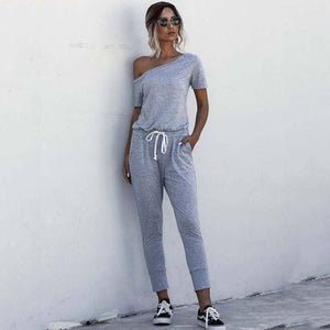 2020 Red One Shoulder Jumpsuit Summer Rompers Womens Jumpsuit Long Female Romper Short Sleeve Lace Up Overalls For Women Pocket | 2020, Female, For, Jumpsuit, Lace, Long, One, Overalls, Pocket, Red, Romper, Rompers, Short, Shoulder, Sleeve, Summer, Up, Women, Womens | akolzol