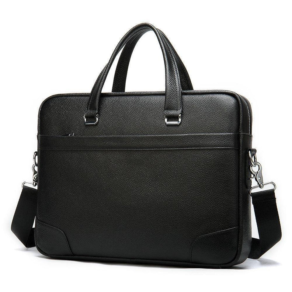 100% Genuine Leather Men's Briefcase New Natural Cowskin Fashion Large Capacity Business bag Black Male Shoulder Laptop Bags (Black) | 100%, bag, Bags, Black, Briefcase, Business, Capacity, Cowskin, Fashion, Genuine, Laptop, Large, Leather, Male, man fashion, Mens, Natural, New, Shoulder | akolzol