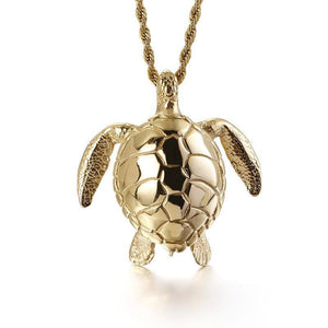 Stainless Steel Animal Turtle Titanium Steel Casting Small Turtle Tortoise Pendant Popular Men's | akolzol