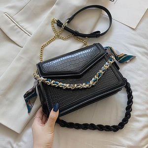 Chain Small Pu Leather Crossbody Bags for Women Fashion Texture Shoulder Handbags Trending Women's Armpit Bags | akolzol