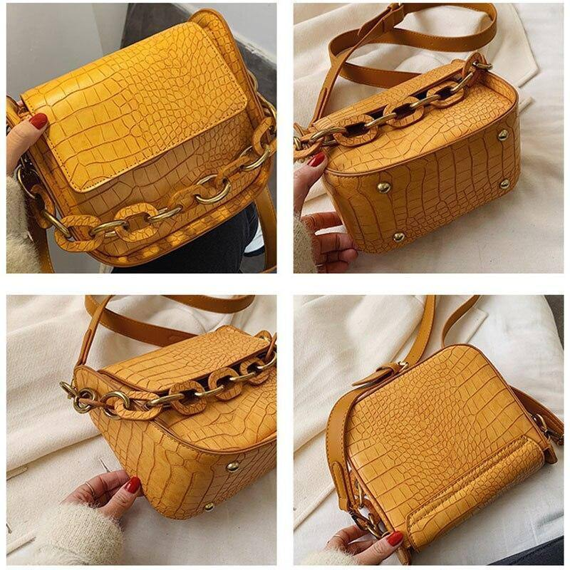 Crocodile Pattern PU Leather Small Crossbody Bags For Women 2020 Trend Chain Design Shoulder Bags Female Fashion Casual Handbags | 2020, Bags, Casual, Chain, Crocodile, Crossbody, Design, Fashion, Female, For, Handbags, Leather, Pattern, PU, Shoulder, Small, Trend, Women | akolzol
