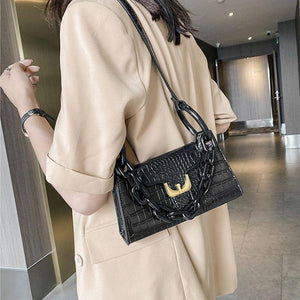 Thick Chain Crocodile Pattern Small Armpit Bags For Women 2020 Fashion Solid Color PU Leather Shoulder Bags Lady Travel Handbags | 2020, Armpit, Bags, Chain, Color, Crocodile, Fashion, For, Handbags, Lady, Leather, Pattern, PU, Shoulder, Small, Solid, Thick, Travel, Women | akolzol