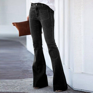 New Autumn Winter Woman Jeans Vintage Skinny Solid Color Streetwear Bell-bottom Pants Sexy Black For Women's Denim Trousers 2020 | 2020, Autumn, Bellbottom, Black, Color, Denim, For, Jeans, New, Pants, Sexy, Skinny, Solid, Streetwear, Trousers, Vintage, Winter, Woman, Womens | akolzol