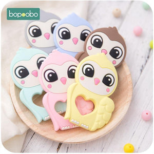 Bopoobo 10PCS Baby Silicone Teething Toys Glove Rodent Owl Teether Baby Toys  Beads Baby Teething Food Grade Silicone | akolzol