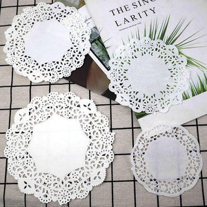 100pcs 11-18cm Hallow Round Lace Wrap Paper Wedding Party Gift Wrapping Supplies Home Table Paper Mats Baking Decoration | 100, 1118, Baking, cm, Decoration, Gift, Hallow, Home, Lace, Mats, Paper, Party, pcs, Round, Supplies, Table, Wedding, Wrap, Wrapping | akolzol