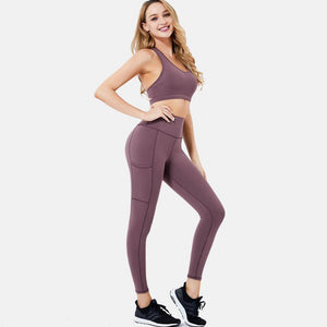 Yoga Set Yoga Leggings Set Women Fitness Suit For Yoga Clothes High Waist Gym Workout Legging Set Gym Sports Clothing | akolzol