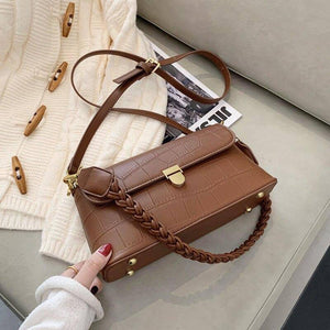 Simple Pu Leather Shoulder Bags for Women New Winter Trend Design Crossbody Bag Branded Fashion Female Armpit Handbags | akolzol