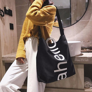 Fashion Large Capacity Handbag Trending Letter Design Crossbody Shoulder Bags For Women Casual Female Big Shopping Tote | akolzol