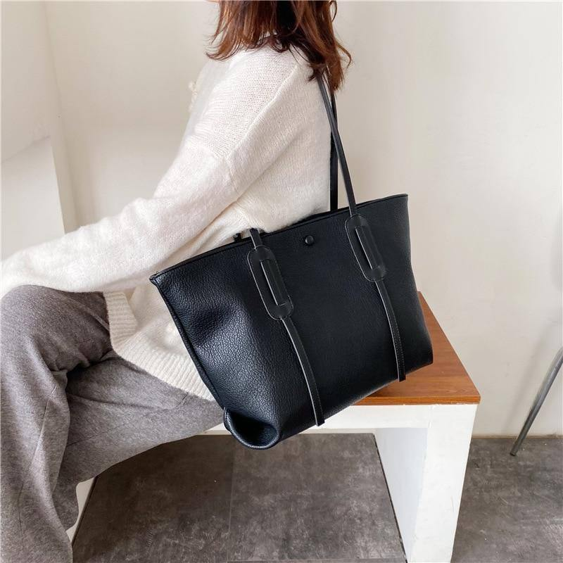 Large Capacity Pu Leather Shoulder Bags for Women Winter Casual Simple Design Tote Fashion Women's Big Handbags | Bags, Big, Capacity, Casual, Design, Fashion, for, Handbags, Large, Leather, Pu, Shoulder, Simple, Tote, Winter, Women, Womens | akolzol