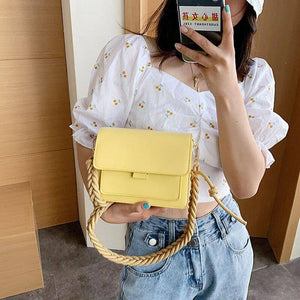 Braided Shoulder Strap Design Small Shoulder Bags For Women Solid Color Fashion Simple PU Leather Crossbody Bags Lady Handbags | Bags, Braided, Color, Crossbody, Design, Fashion, For, Handbags, Lady, Leather, PU, Shoulder, Simple, Small, Solid, Strap, Women | akolzol