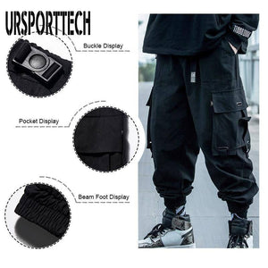 2020 Black Cargo Pants Men Hip Hop Autumn Harem Pant Streetwear Harajuku Jogger Sweatpant Cotton Trousers Male Pants | akolzol