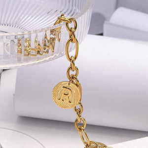New Fashion Unique Chunky Chain Bracelets Letter Pendant Stainless Steel Bracelet for Women Men Bangle Jewelry | Bangle, Bracelet, Bracelets, Chain, Chunky, Fashion, Flashbuy, for, Jewelry, Letter, Men, New, Pendant, Stainless, Steel, Unique, Women | akolzol
