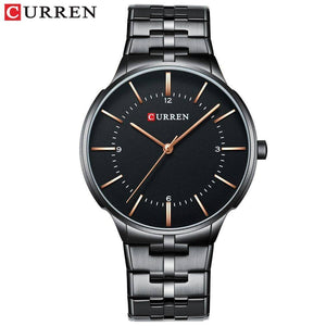 2019 Top Brand CURREN Luxury Quartz Watches for Men Wrist Watch Classic Black Stainless Steel Strap Men's Watch Waterproof 30M | akolzol