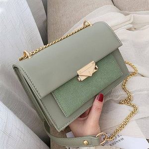 Chain Design PU Leather Small Crossbody Bags For Women 2020 Summer Fashion Contrast Color Shoulder Bags Lady Travel Handbags | akolzol