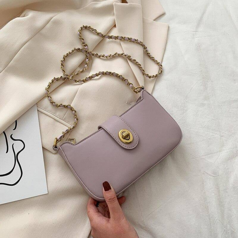 Wild Chain Solid Color Small Crossbody Bags For Women 2020 Summer Fashion PU Leather Shoulder Bags Female Travel Handbags | 2020, Bags, Chain, Color, Crossbody, Fashion, Female, For, Handbags, Leather, PU, Shoulder, Small, Solid, Summer, Travel, Wild, Women | akolzol