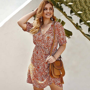 2020 Summer Oversized Floral Dress Women Big Size Dress Female Short Party Dress Plus Size Boho Flower Dress For Women | 2020, Big, Boho, Dress, Female, Floral, Flower, For, Oversized, Party, Plus, Short, Size, Summer, Women | akolzol
