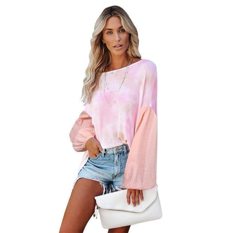 New Autumn Winter Woman Tshirts Clothes Loose Tie-dye Round Neck Print Long Sleeved Tops Fashion Women's Fall Clothing 2020 | 2020, Autumn, Clothes, Clothing, Fall, Fashion, Long, Loose, Neck, New, Print, Round, Sleeved, Tiedye, Tops, Tshirts, Winter, Woman, Womens | akolzol