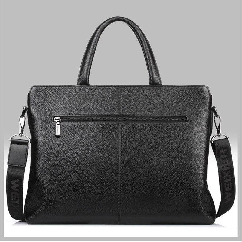 New Design Fashion Genuine Leather Men's Briefcase Handbag Bags Casual British Style Male Business Bags Shoulder Messenger Bags | akolzol