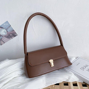 New Women's Handbags Fashion Retro Lock Designer Wild Small Leather Shoulder Bags Casual Female Tote Messenger Bags For Women | akolzol