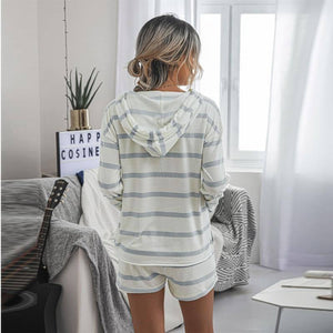 2020 Autumn Two Piece Set Women Fashion Striped Hoodie Casual European Beauty Set Outfits for Woman's Clothing Sets Fall | 2020, Autumn, Beauty, Casual, Clothing, European, Fall, Fashion, for, Hoodie, Outfits, Piece, Set, Sets, Striped, Two, Womans, Women | akolzol