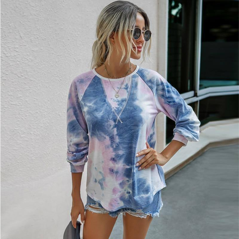 Autumn And Winter Sexy Woman Graphic Tee  Tie-dye Long Sleeved Tops Color All-match Fashion Women's Fall Clothing 2020 | 2020, Allmatch, And, Autumn, Clothing, Color, Fall, Fashion, Graphic, Long, Sexy, Sleeved, Tee, Tiedye, Tops, Winter, Woman, Womens | akolzol