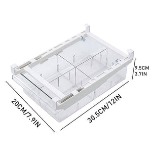 Transparent Refrigerator Drawer Storage Box Retractable Pullout Drawer Fresh Spacer Layer Sort Kitchen Fridge Shelf Organizer | akolzol