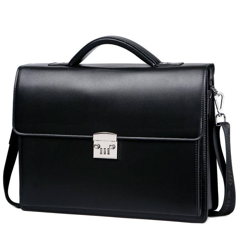 New Male Password Lock Briefcase Diagonal Package Leather Laptop Business Bag Men Shoulder Messenger Luxury Handbags Maleta | akolzol
