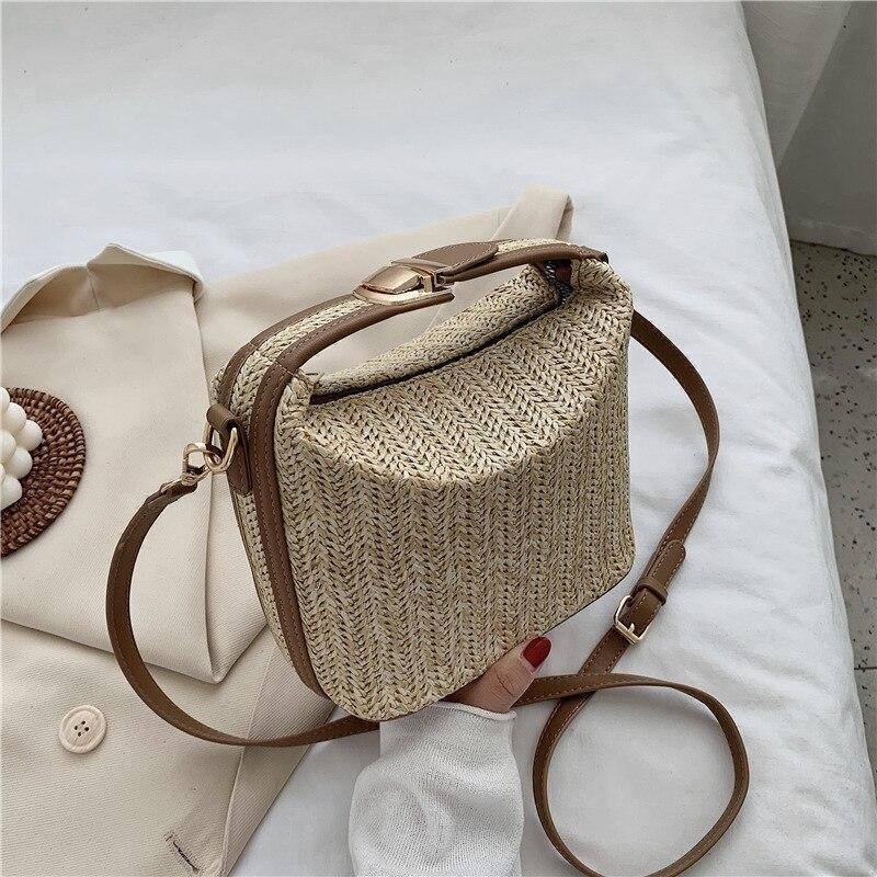 Summer Fashion Weaving Bucket Bags For Women 2020 New Casual Wild Travel Straw Handbags Female Beach Crossbody Shoulder Bags | 2020, Bags, Beach, Bucket, Casual, Crossbody, Fashion, Female, For, Handbags, New, Shoulder, Straw, Summer, Travel, Weaving, Wild, Women | akolzol