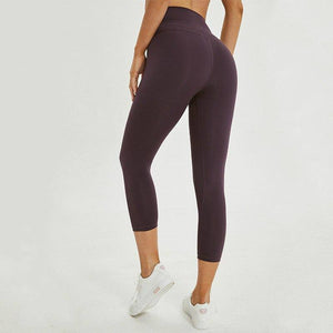 Jocelyn Katrina 2.0 Buttery-soft Naked-Feel Athletic Fitness Cpari Pants Women Four-way Stretchy Gym Yoga Sport Cropped Tights | akolzol