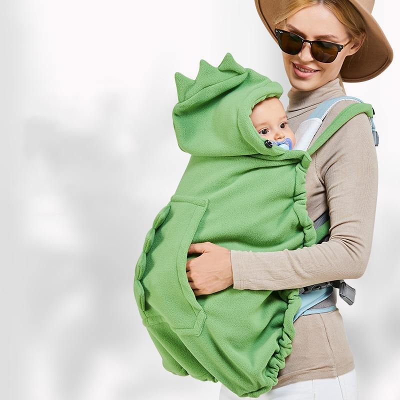 Cartoon Baby Carrier Windproof Thicken Cover Hooded Cloak Multifunctional Newborn Blanket Warm Stroller Cover | akolzol