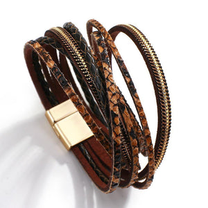 New Trend Snakeskin Pattern Multilayer Leather Bracelets For Women 2020 Unusual Brown Long Bracelet Fashion Jewelry | 2020, Bracelet, Bracelets, Brown, Fashion, Flashbuy, For, Jewelry, Leather, Long, Multilayer, New, Pattern, Snakeskin, Trend, Unusual, Women | akolzol
