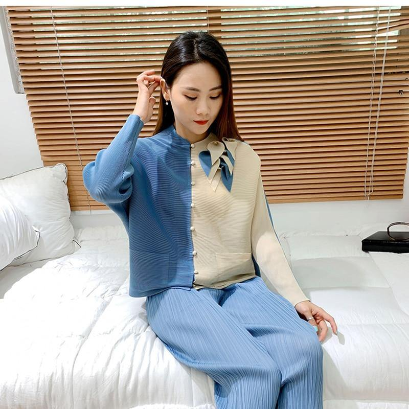 Pleated 3D Appliques Female blouses 2021 Spring Casual Shirts Long Sleeve Single Breasted Corp Top Korean Elegant Clothes | akolzol