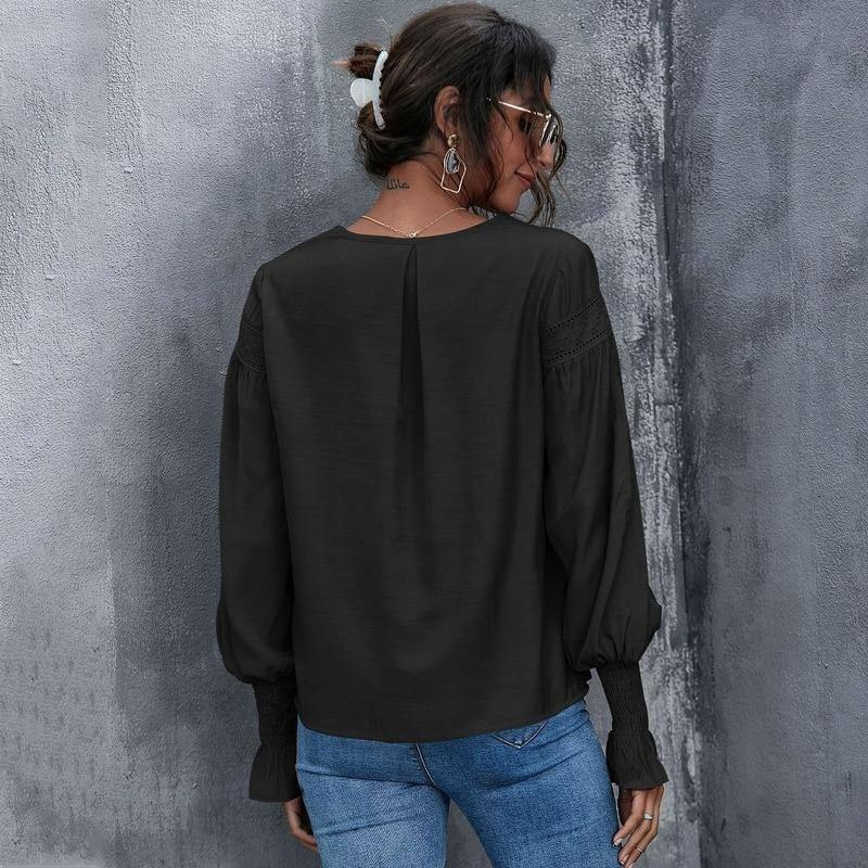 New Spring Autumn Woman Shirts Sexy Solid Color Lantern Long Sleeve Top Lace Shirt Aesthetic Fashion Women's Fall Clothing 2020 | 2020, Aesthetic, Autumn, Clothing, Color, Fall, Fashion, Lace, Lantern, Long, New, Sexy, Shirt, Shirts, Sleeve, Solid, Spring, Top, Woman, Womens | akolzol