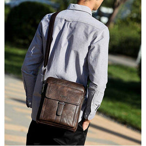 New Vintage Leather Men Business Bag Crossbody Bags Brand Designer Male Handbags Shoulder Lapatop Bags Briefcase Bolsa Masculina | akolzol