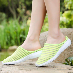 Fashion Slip On Ladies Summer White Shoes For Women 2020 Lightweight Woman Flats Mesh Breathable Zapatillas Mujer Casual Verano | akolzol